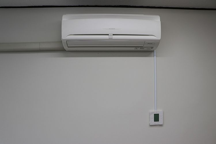 池田ビル302号室のエアコン