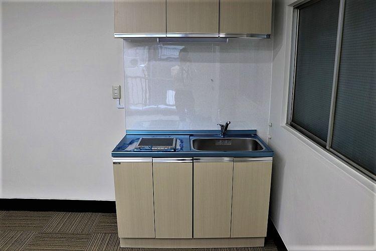 池田ビル302号室のミニキッチン