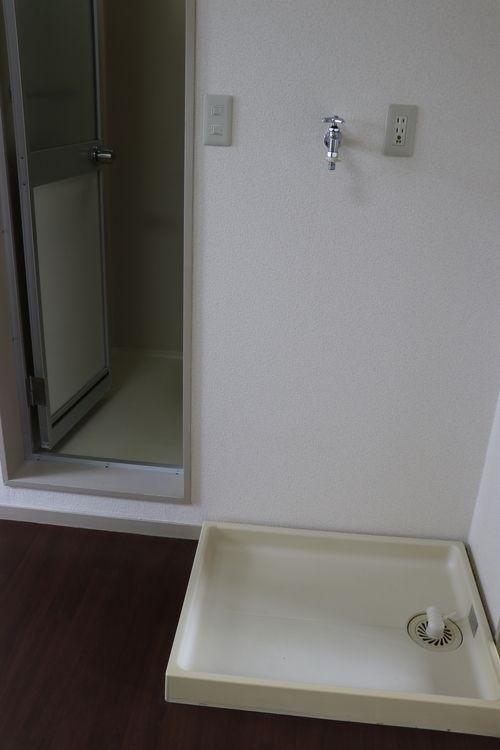 室内に洗濯機置場あります