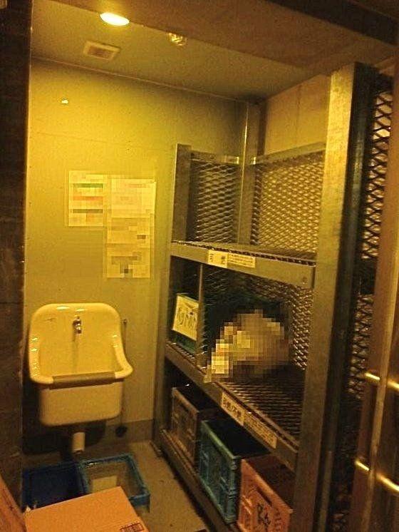 台東区西浅草3丁目にある浅草タワーのごみ置き場写真です。