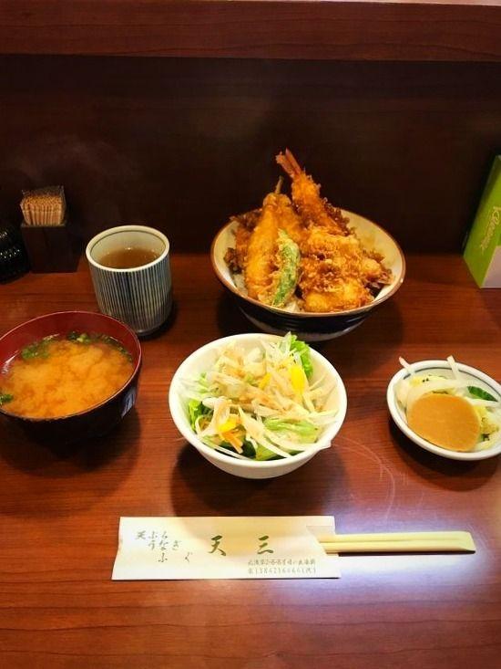 台東区元浅草2丁目にある、天三の天丼です。