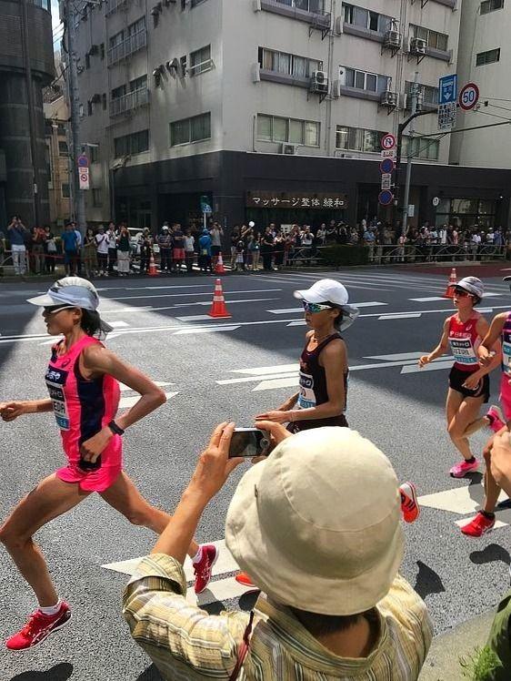 2019年9月15日に行われた、マラソングランドチャンピオンシップを走る前田選手と鈴木選手です。