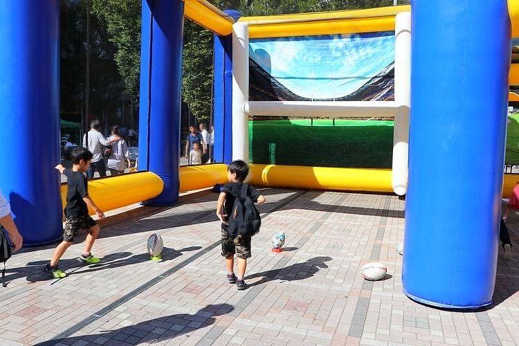 2019年10月5日と13日に御徒町駅前で行われる、ラグビーワールドカップ・パブリックビューイングのラグビー体験コーナーです。