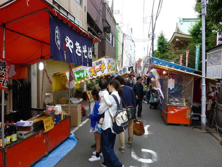矢先稲荷神社例大祭露店