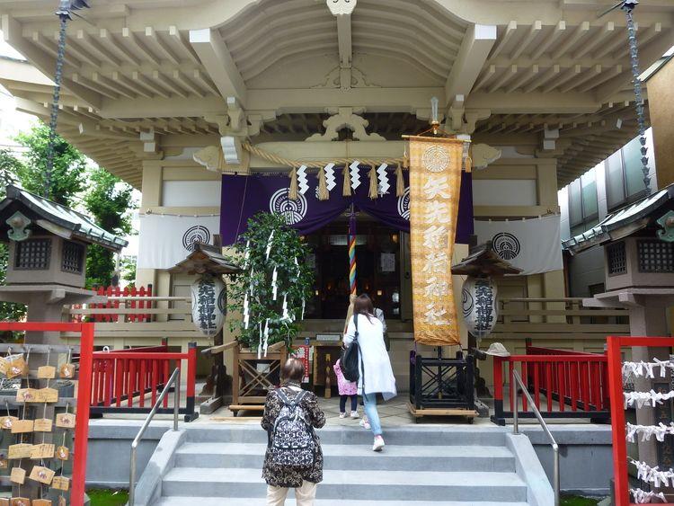 矢先稲荷神社境内の様子