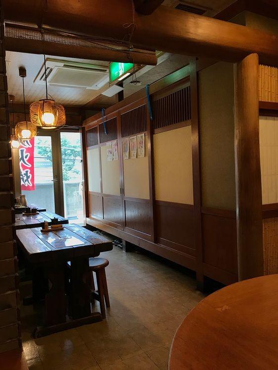 台東区北上野2丁目にある居酒屋、元治郎の店内写真です。