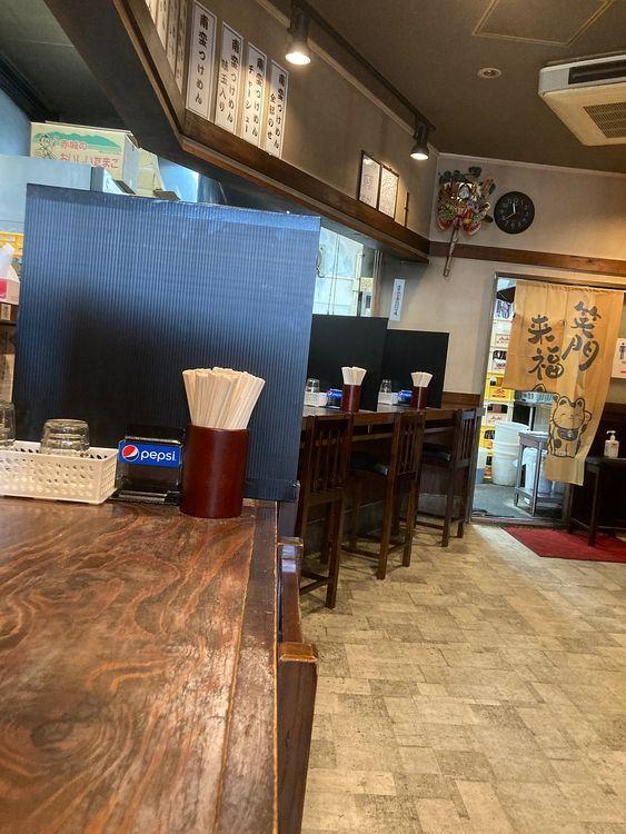 台東区浅草2丁目にあるラーメン店、きび太郎の店内です。