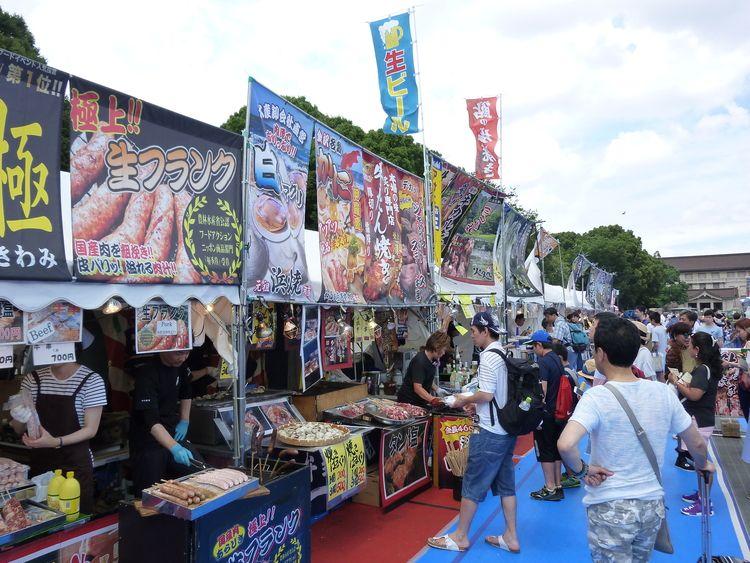 日蘭友好SAMURAIフェス、露店の写真です。