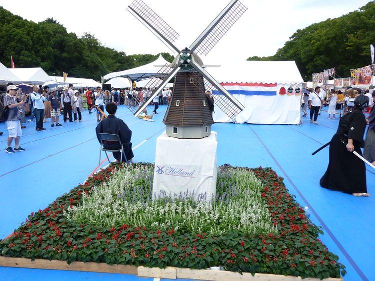 日蘭友好SAMURAIフェス、風車の模型です。