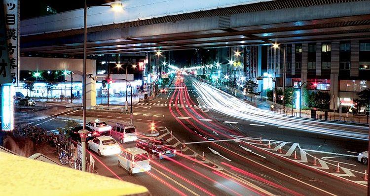 上野駅前交差点を上から撮影した写真です。