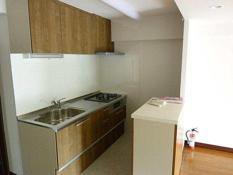 浅草ロイヤルマンション室内のオーナー様こだわりのキッチンです。
