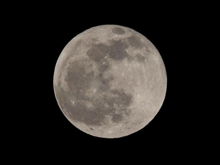満月の写真です。