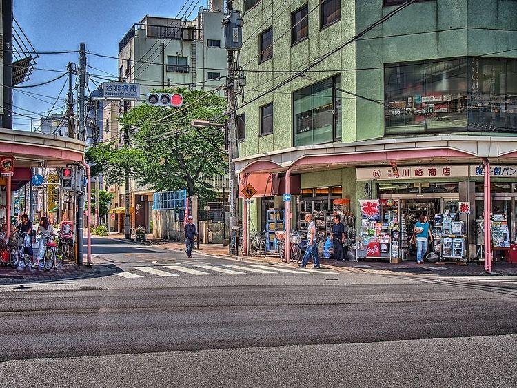 かっぱ橋道具街、合羽橋南交差点付近の風景写真です。