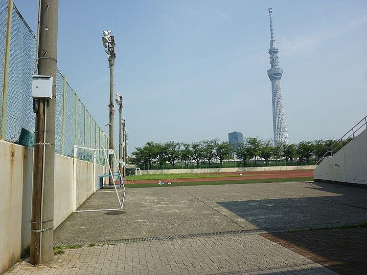 台東リバーサイドスポーツセンターの陸上競技場です。