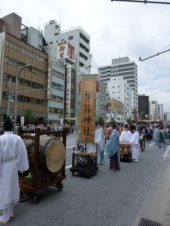 下谷神社大祭の3日目の様子